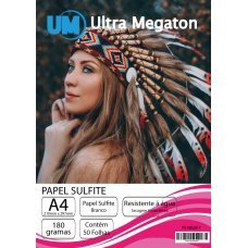 Papel Sulfite Branco A4 180G 50 Folhas Ultra Megaton