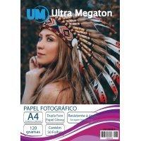 Papel Fotográfico Glossy Dupla Face A4 120G 50 Folhas Ultra Megaton