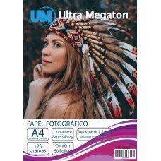 Papel Fotográfico Glossy Dupla Face A4 120G 50 Folhas