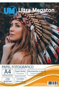 Papel Fotográfico Matte Fosco A4 230G 100 Folhas