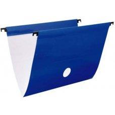 Pasta Suspensa Delloplus com Haste e Grampos de Plástico Azul - 1 Unidade