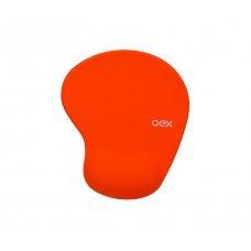 Mouse Pad com Apoio Ergonômico em Gel MP200 Laranja Oex