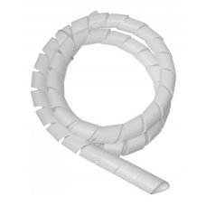 Organizador de Cabos Spiral Tube 2m 19,1mm Branco Hellermann
