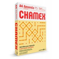 Papel A4 75g Chamex Colors Amarelo 500 Folhas