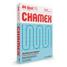 Papel A4 75g Chamex Colors Azul 500 Folhas
