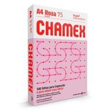 Papel A4 75g Chamex Colors Rosa 500 Folhas