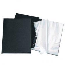 Pasta Catálogo c/ 10 envelopes Ofício Preta Dac