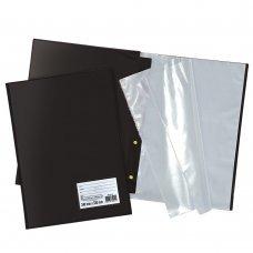Pasta Catálogo c/ 50 envelopes Ofício Preta Polibras