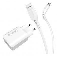 Carregador Turbo USB 3.0 + Cabo Micro USB KT638 Kimaster