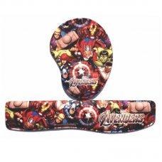 Kit Almofada Ergonômica para Punhos Avengers Key Pad + Mouse Pad