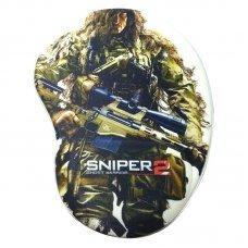 Mouse Pad com Apoio Ergonômico Sniper 2