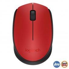 Mouse USB Wireless Logitech M170 1000Dpi Vermelho
