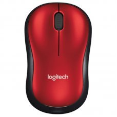 Mouse USB Wireless 1000Dpi Vermelho M185 Logitech