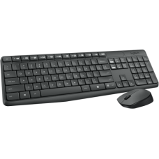 Teclado e Mouse Logitech USB Wireless - MK235
