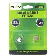 Pilha Alcalina LR41/AG3 FX-LR03 FLEX
