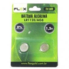 Pilha Alcalina LR1120/AG8 FX-LR08 FLEX