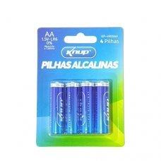 Pilha AA Alcalina com 4 KP-4900AA Knup