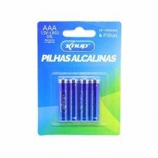 Pilha AAA Alcalina com 4 KP-4900AAA Knup