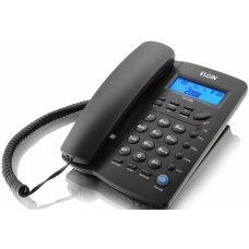 Telefone com Fio e Identificador de Chamada TCF 3000 Preto - ELGIN