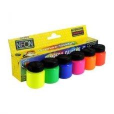 Tinta Têmpera Guache Neon 15ml com 6 Cores 1006 Acrilex